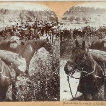 Image of Stereoview - Troop K., 10th U.S. Cavalry, Camp Chickamauga, Ga., USA
