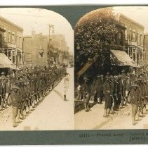 """Image of Stereoview - """"Present Arms"""" Colored Soldiers of the 8th Illinois Infantry"""