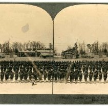 Image of Stereoview - Colored Troops of the South Lined up for Democracy