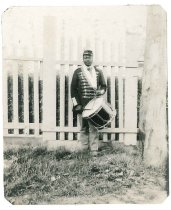 Image of Print, Photographic - Unidentified African American Musician with Drum