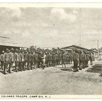 Image of Print, Photographic - Inspection Colored Troops, Camp Dix, New Jersey