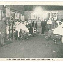 Image of Print, Photographic - Barber Shop And Wash Room, Liberty Hut, Washington D.C.