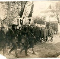 Image of Print, Photographic - Unknown African American Soldiers marching