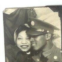 Image of Print, Photographic - Happy military couple