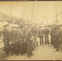 Image of Print, Photographic - Unidentified White and African American Sailors