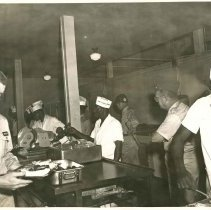 Image of Print, Photographic - Unidentified White Soldiers in a Mess Hall