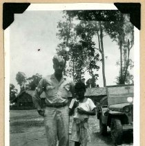 Image of Print, Photographic - Unidentified African American Soldier and Indian Child