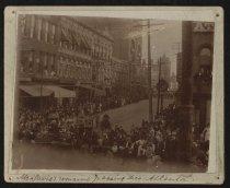 Image of Print, Photographic - Jefferson Davis' Remains Passing Through Atlanta, Georgia