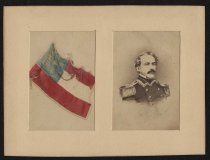 Image of Carte-de-visite - Robert E. Lee; and the 1st National Flag