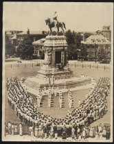 Image of Print, Photographic - Naval Recruits Parade around Robert E. Lee Monument, August 1, 1942