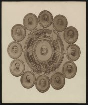 Image of Print, Photographic - Military Medallion: Robert E. Lee and Staff