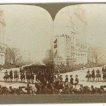 Image of Stereoview - The Ninth Cavalry of Colored Troops, Heroes of San Juan, Inaugural Parade, Washington DC, March 4, 1908