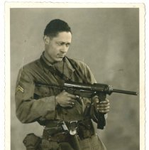 Image of Print, Photographic - Unidentified African American Soldier