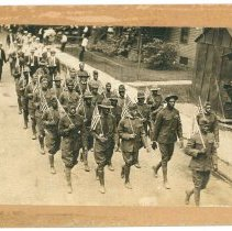 Image of Print, Photographic - Unidentified African American Soldiers on Parade