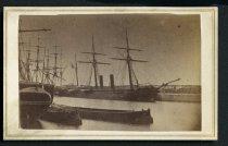 Image of Carte-de-Visite - CSS Rappahannock in Calais Harbor