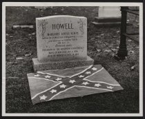 Image of Print, Photographic - Margaret Kempe Howell's tombstone, Canada
