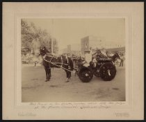 Image of Print, Photographic - Mrs. Hayes in her flower carriage, Flower Carnival, Colorado Springs, CO