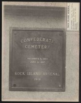 Image of Photograph - Plaque of Rock Island Cemetery