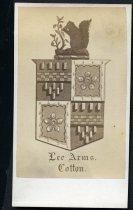 Image of Carte-de-Visite - Lee Coat of Arms, Cotton
