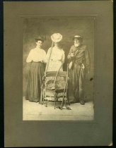 Image of Unknown - Josiah Woods Price and Two Civilian Women