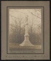 Image of Print, Photographic - Monument to Arkansas Troops, Shiloh Military Park