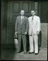 Image of Copy Print - Bell Irvin Wiley and Hirst D. Milhollen on back porch of Lee House