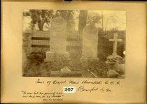 Image of Albumen - Paul Hamilton, William Hamilton, and Arthur Hamilton Monuments, Beaufort, South Carolina