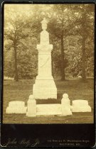 Image of Cabinet Card - Confederate Monument to Harry Gilmor