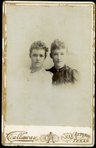 Image of Cabinet Card - Jessie May Joiner Rust and Unidentified Woman
