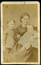 Image of Carte-de-Visite - Martha Frances Joiner Surghnor (tentative), Mary Ellen Surghnor, and Graham Surghnor