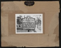 Image of Print, Photographic - Marker – Last Confederate Capitol, Home of Major Sutherlin