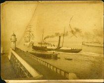 Image of Albumen - Several ships (including the St. Jean)