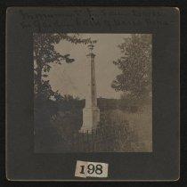 Image of Print, Photographic - Monument to Sam Davis, behind Davis Home