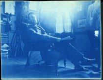 Image of Cyanotype - Allen Christian Redwood in studio