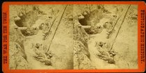 Image of Stereograph - Southern soldiers killed in the trenches of Ft. Mahone