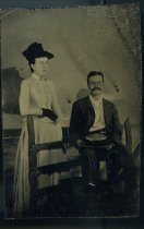 Image of Tintype - Clarence Horry Richwood and Edith Pope Goodhue (Mrs. Russell P. Goodhue)