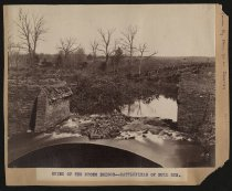 Image of Print, Photographic - Confederate fortifications at Manassas, March 1862 ; Ruins of the Stone Bridge