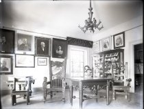 Image of Negative, Glass Plate - Texas Room, White House of the Confederacy