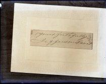 "Image of Negative, Glass Plate - ""Yours faithfully, Jefferson Davis."""