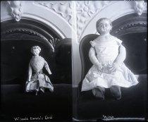 "Image of Negative, Glass Plate - Dolls - Winnie Davis's, and doll named ""Nina"""
