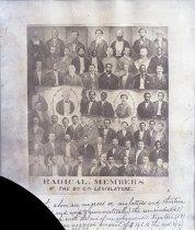 Image of Negative, Glass Plate - Radical members of the South Carolina Legislature