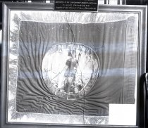 "Image of Negative, Glass Plate - Flag, 4th Virginia Cavalry, ""Black Horse Troop"""