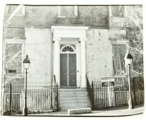 Image of Print, Photographic - North view of White House of the Confederacy during Restoration, ca. 1980s