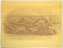 Image of Print, Photographic - Fort Sumter, December, 1863, Birds'-eye View of Interior after Second Great Bombardment