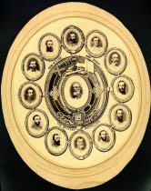 Image of PHOTOGRAPH - Military Medallion: Robert E. Lee and Staff
