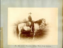 Image of Print, Photographic - General Lee and Traveller taking their daily exercise