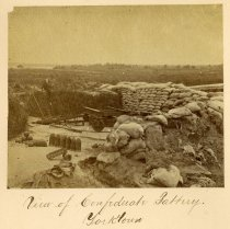 Image of Albumen - View of Confederate Battery. Yorktown