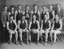 Image of Auburn High School Basketball team 1924-1925 - Eckhart Public Library Photo Collection