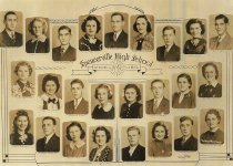 Image of 1939 Senior Class of Spencerville High School - Willennar Genealogy Center Photo Collection