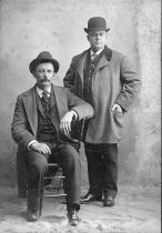 Image of Ed Hayes and friend - Willennar Genealogy Center Photo Collection